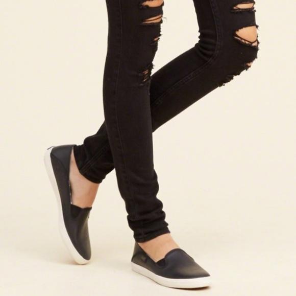 Keds Crashback Leather Slip Ons